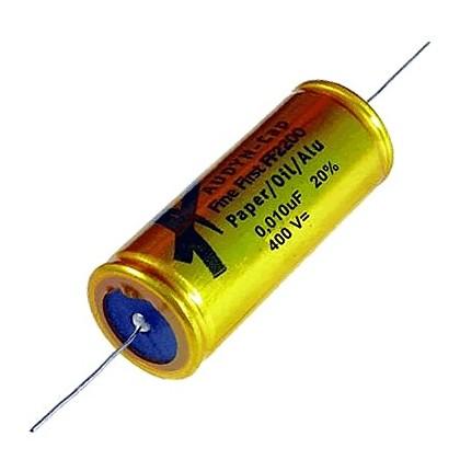 AUDYN FINE FIRST Condensateur Papier Huilé / Alu 400VDC 0.01µF