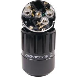 ELECAUDIO US-24G Prise Secteur USA NEMA 5-15 plaqué Or Ø16.5mm
