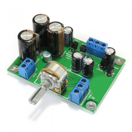 Stereo Preamplifier Module Class A with Transistors