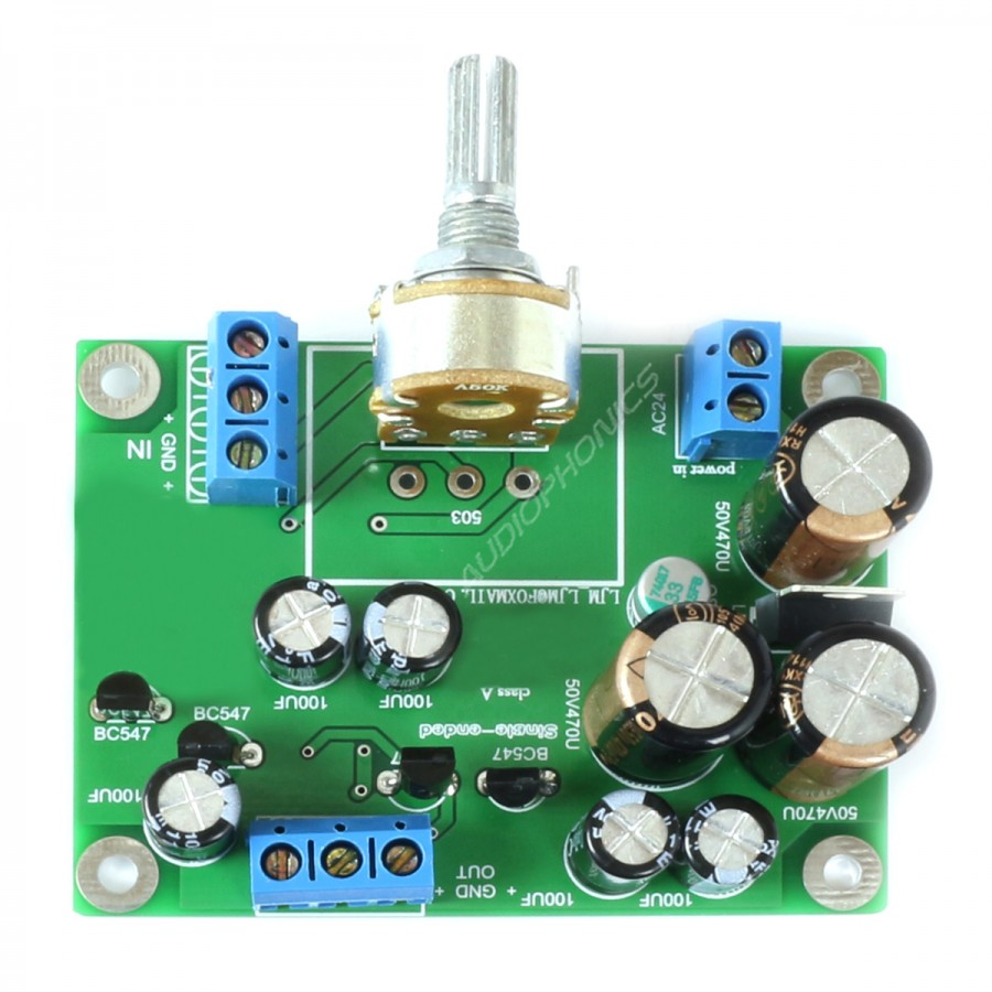 lj single ended preamplifier module class a with transistors  variable low pass filter electronic