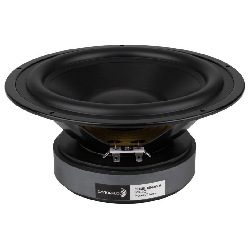DAYTON AUDIO DSA215-8 Speaker Driver Woofer 80W 8 Ohm 89dB 35Hz - 7000Hz Ø20cm