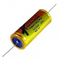 AUDYN FINE FIRST Condensateur Papier Huilé / Aluminium 400V 0.22µF