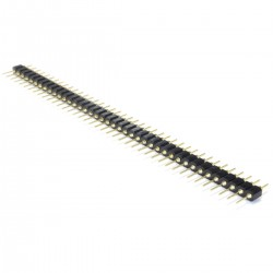 2.54mm Male Pin Header Pin Header 40 Pins 5mm Rounded Gold-Plated (Unit)