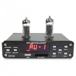 FX-AUDIO DP-02 Préamplificateur à Tubes 6K4 / Lecteur de fichier USB SD / Bluetooth