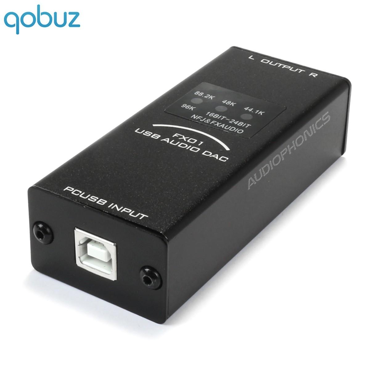 FX-AUDIO FX01 DAC USB stéréo PCM5102 24bit / 96khz Noir