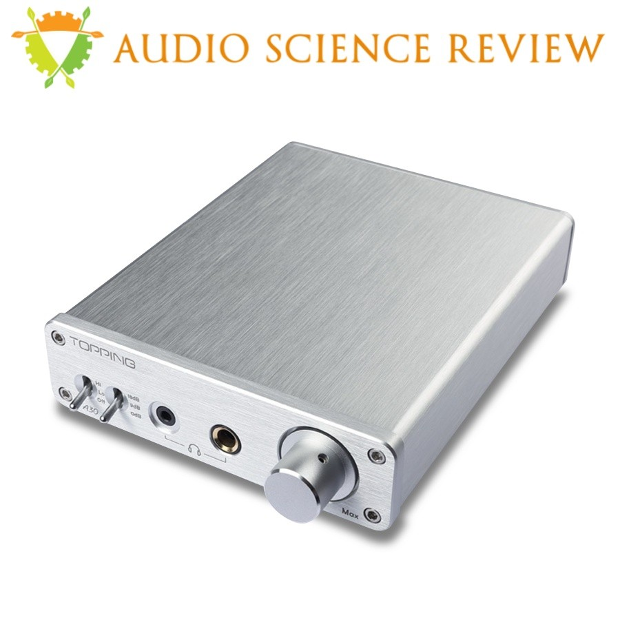 TOPPING A30 Headphone amplifier Preamplifier TPA6120A2 Silver