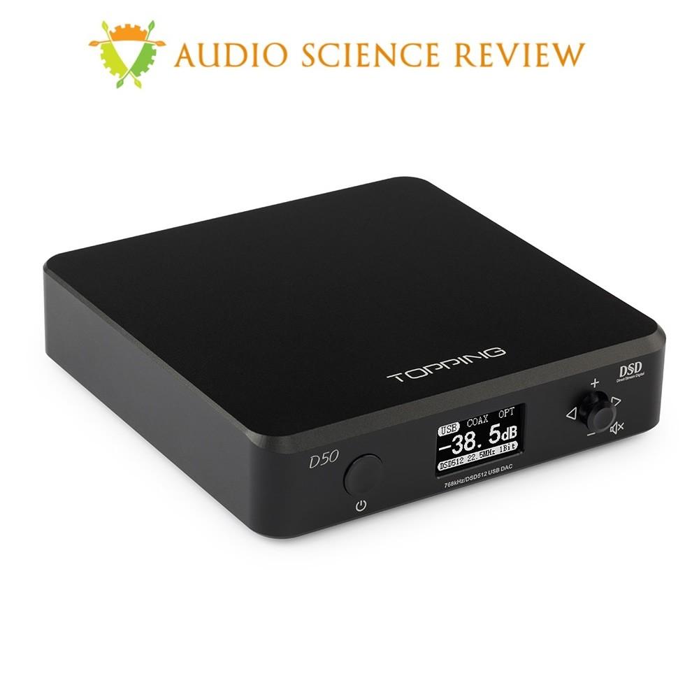 TOPPING D50 DAC ES9038Q2M x2 32bit/768kHz DSD512 XMOS U208 Black