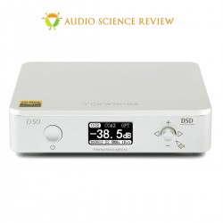 TOPPING D50 DAC 2x ES9038Q2M 32bit/768kHz DSD512 XMOS U208 Argent
