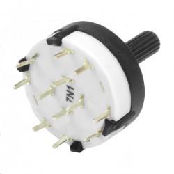 Interrupteur Alpha SR2613F 4 entrées 2 positions Ø6mm Axe méplat