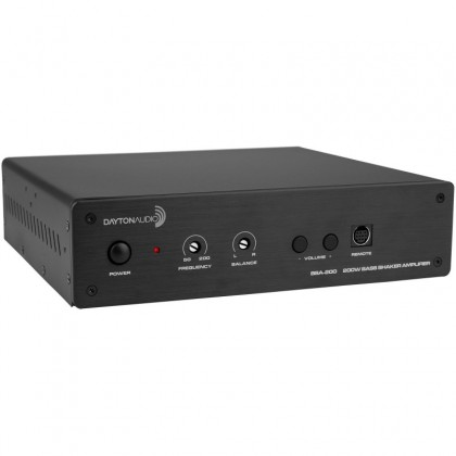 DAYTON AUDIO BSA-200 Amplificateur Stéréo Bridgeable pour Vibreur de Grave avec