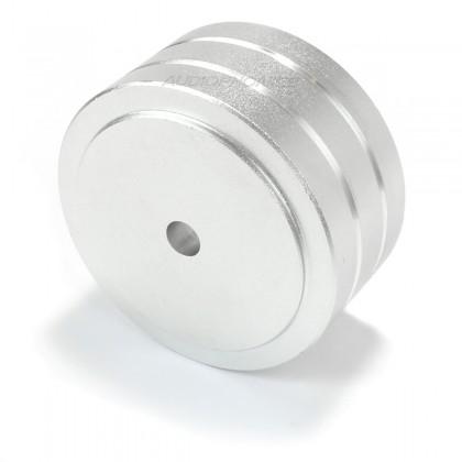 Pied en métal Argent 39.4x21.4mm (Unité)