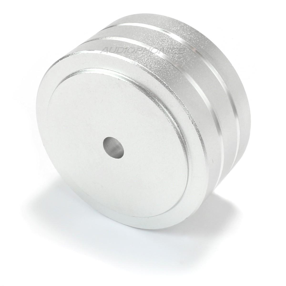 Aluminium Damping Foot 39.5x21.5mm M4 Silver (Unit)