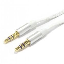 KAIBOER KBE-SM-13036 Câble Plat Jack 3.5mm vers Jack 3.5mm plaqué Or 24k 1m