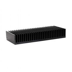 Radiateur Dissipateur Thermique Anodisé 400x125x50mm Noir
