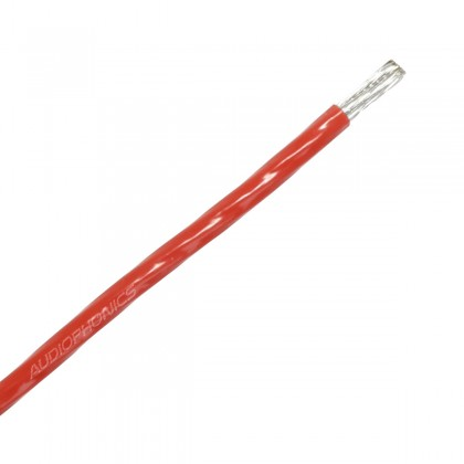 Copper / Silver Wiring Cable 4mm² PTFE Sleeve Ø 3.6mm Red