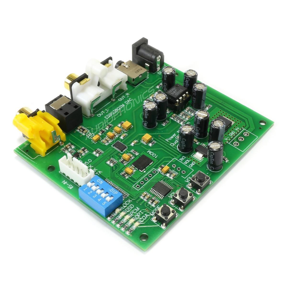 Module DAC ESS ES9038Q2M I2S Optique Coaxial 32bit 384khz DSD256