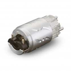 VIBORG VE512R Connecteur Secteur Schuko Cuivre Pur / Plaquage Cuivre OFC Argent Rhodium Ø 20mm