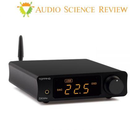 TOPPING DX3 Pro DAC AK4493EQ XMOS XU208 32bit/768kHz Amplificateur casque Bluetooth apt-X HD Noir