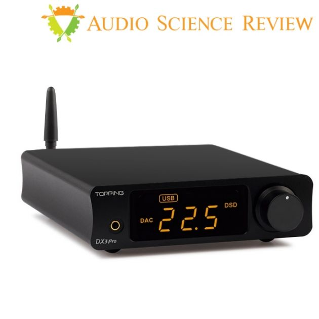 TOPPING DX3 Pro DAC 2x AK4493EQ XMOS XU208 32bit/768kHz Headphone amplifier  Bluetooth apt-X HD Black