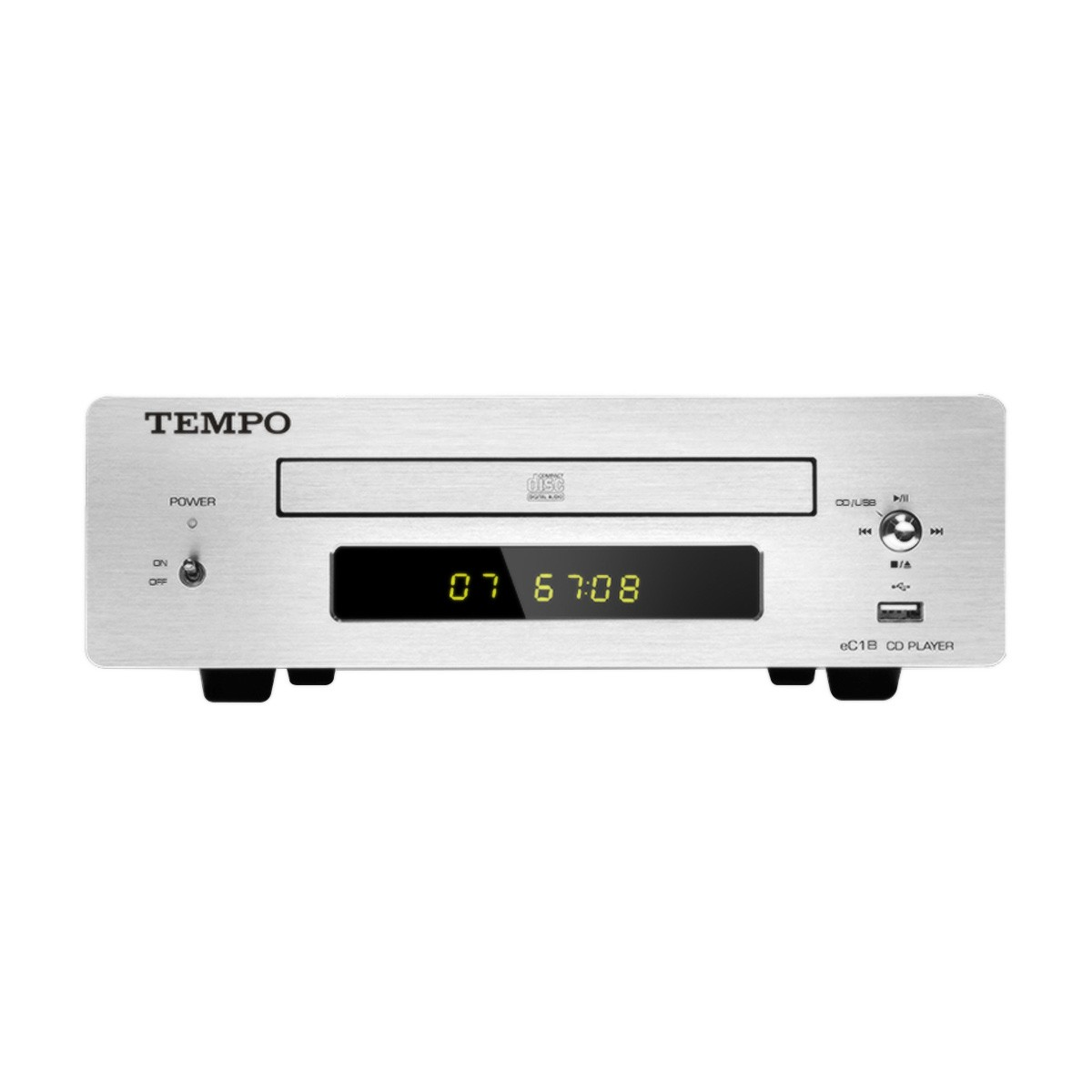 SHANLING TEMPO eC1B Audio CD Player and USB Flash Drive File Reader Silver