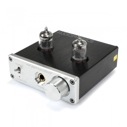 FX-AUDIO TUBE-02 Headphone Tube Amplifier 2x 6K4 Silver
