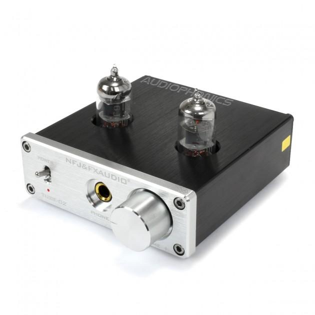 FX AUDIO TUBE 02 Amplificateur Casque à Tubes 2x 6K4 Argent