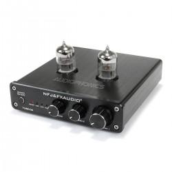 FX-AUDIO TUBE-06 Préamplificateur à Tubes avec Contrôle de Tonalité 2x 6N3 DAC USB Noir