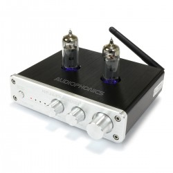 FX-AUDIO TUBE-03E Préamplificateur à Tubes avec Contrôle de Tonalité 2x 6K4 Bluetooth Argent