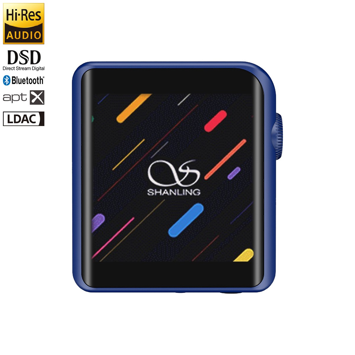 SHANLING M0 DAP Baladeur Numérique HiFi Compact DAC ES9218P 32bit 384kHz DSD Bleu