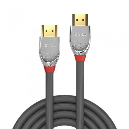 LINDY CROMO LINE Câble HDMI 2.0 High Speed Triple Blindage Plaqué Or 24k 3m