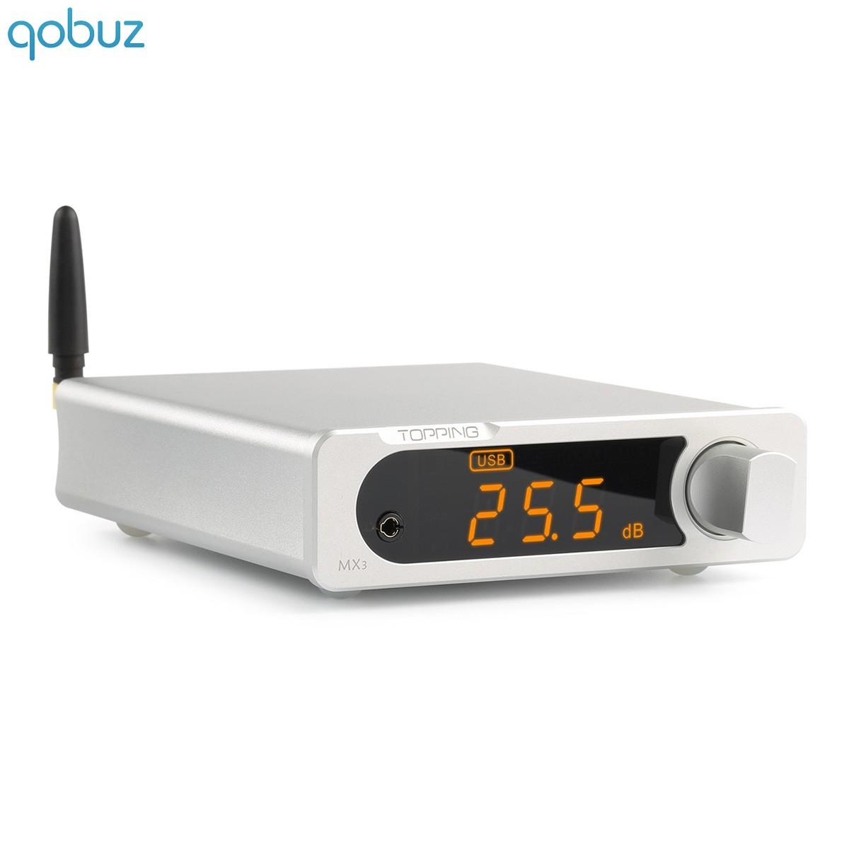 TOPPING MX3 Amplificateur numérique Bluetooth 4.0 Class D TDA7498E 2x40W / 4 Ohm Argent