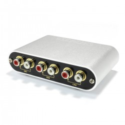 Bidirectional 3 RCA to 1 RCA / 1 RCA to 3 RCA Source Selector with Remote Control