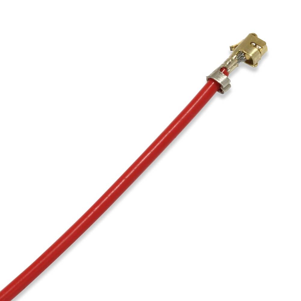 Câble XH 2.54mm Femelle / Femelle Plaqué Or Sans boîtier PTFE 30cm Rouge (x10)