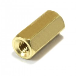 Brass Spacers M2.5x10mm Female / Female (x10)