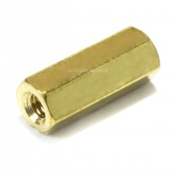 Brass Spacers Female / Female M2.5x12mm (x10)