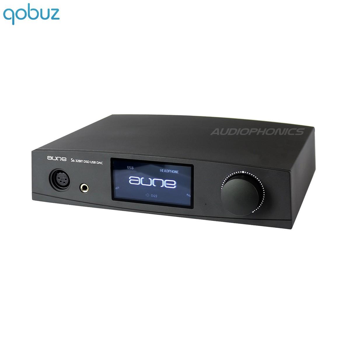 AUNE S6 Headphone Amplifier DAC DSD AK4495S 32bit / 384kHz XMOS Black