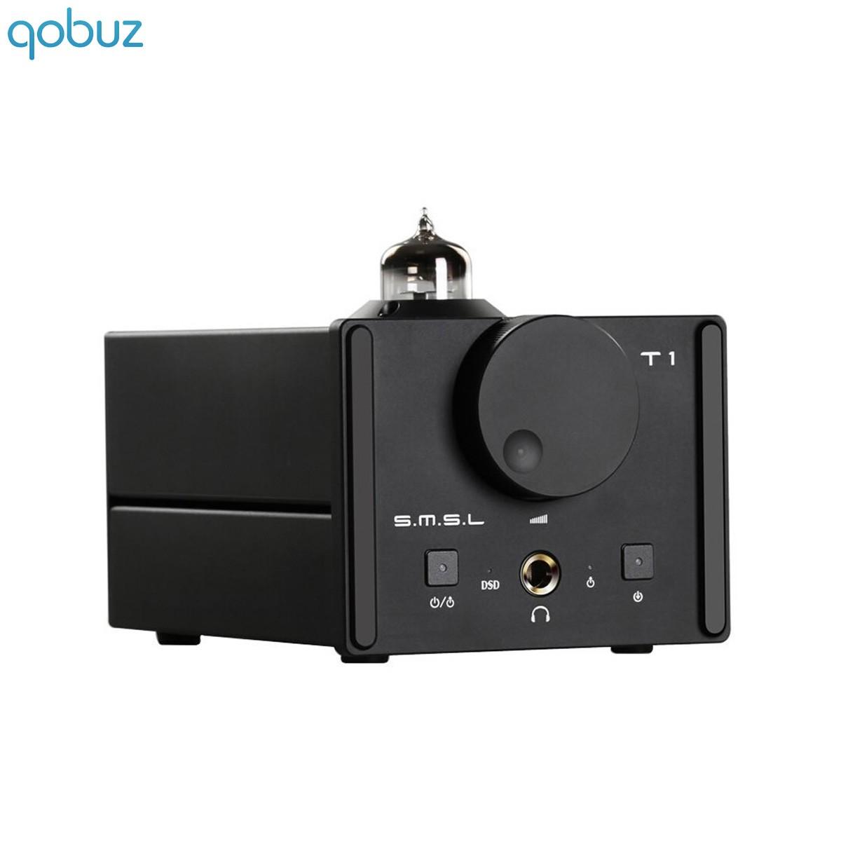 SMSL T1 DAC / Amplificateur Casque AK4490 Tube 6n11 DSD512 32bit/384kHz