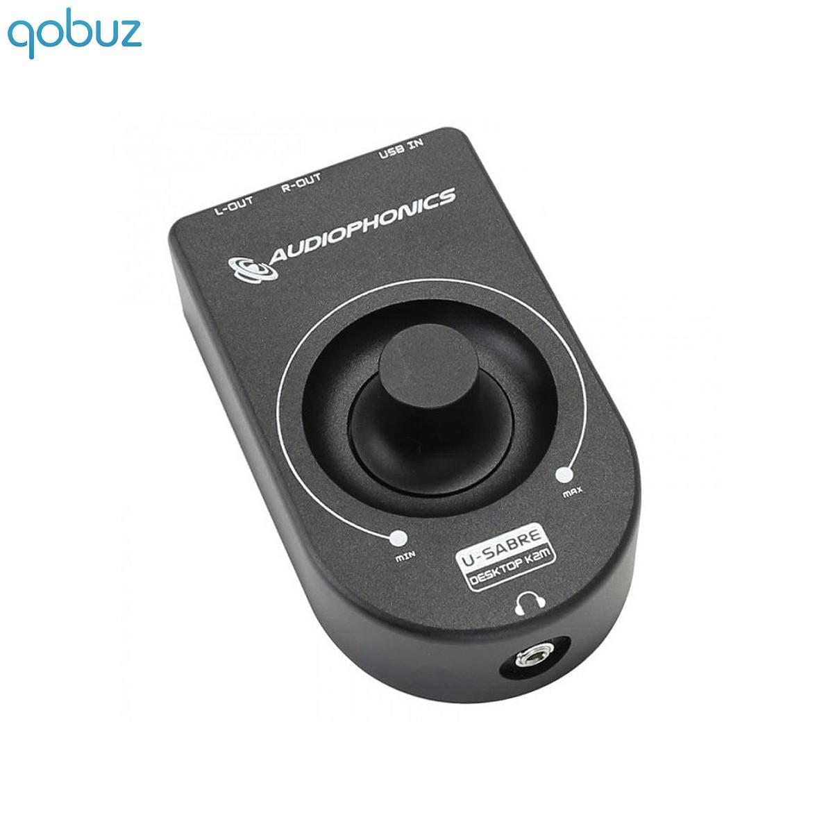 AUDIOPHONICS U-Sabre Desktop K2M DAC / Headphone Ampli 24bit/96kHz SA9023 / ES9018