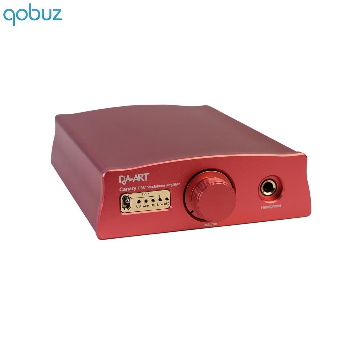 DAART Canary DAC USB XMOS DSD ES9018K2M 32Bit Headphone out class A Red