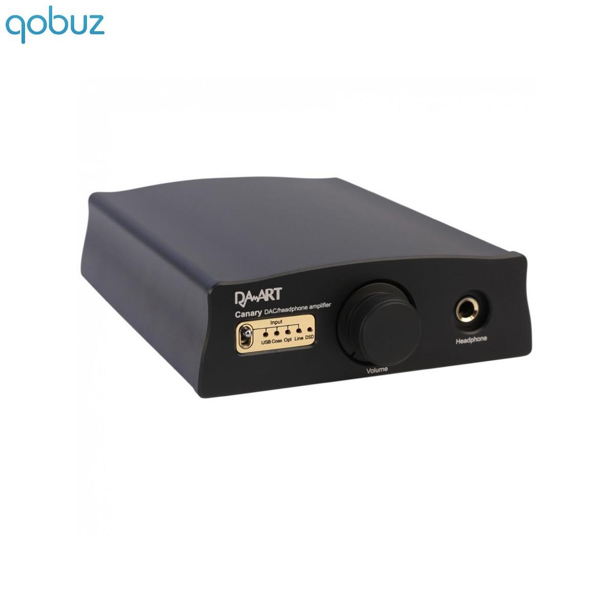 DAART Canary DAC USB XMOS DSD ES9018K2M 32Bit Headphone out class A Black