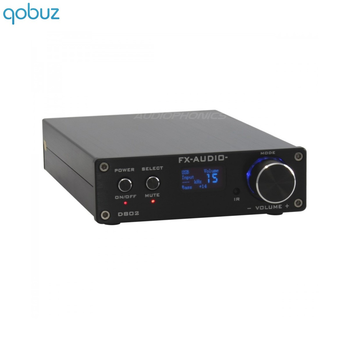 FX-AUDIO D802 Digital Amplifier STA326 Class D stereo 2x50W / 8 Ohm Black