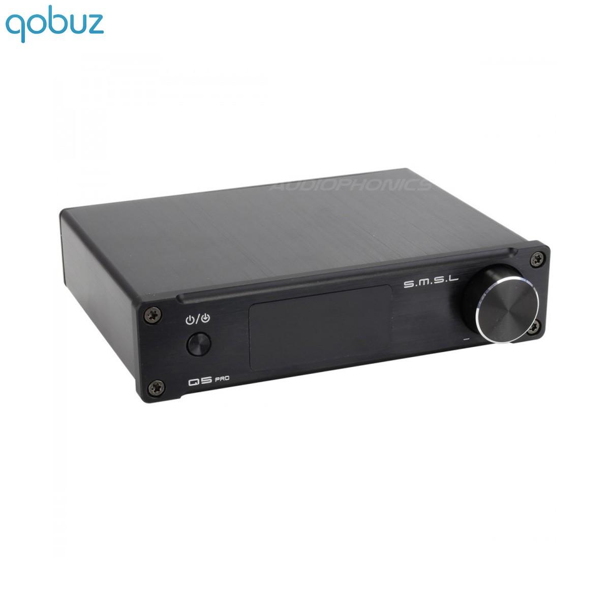 SMSL Q5 PRO FDA Amplifier TAS5508 2x25W + Subwoofer output / 8 Ohm CS5341 SA9023 Black