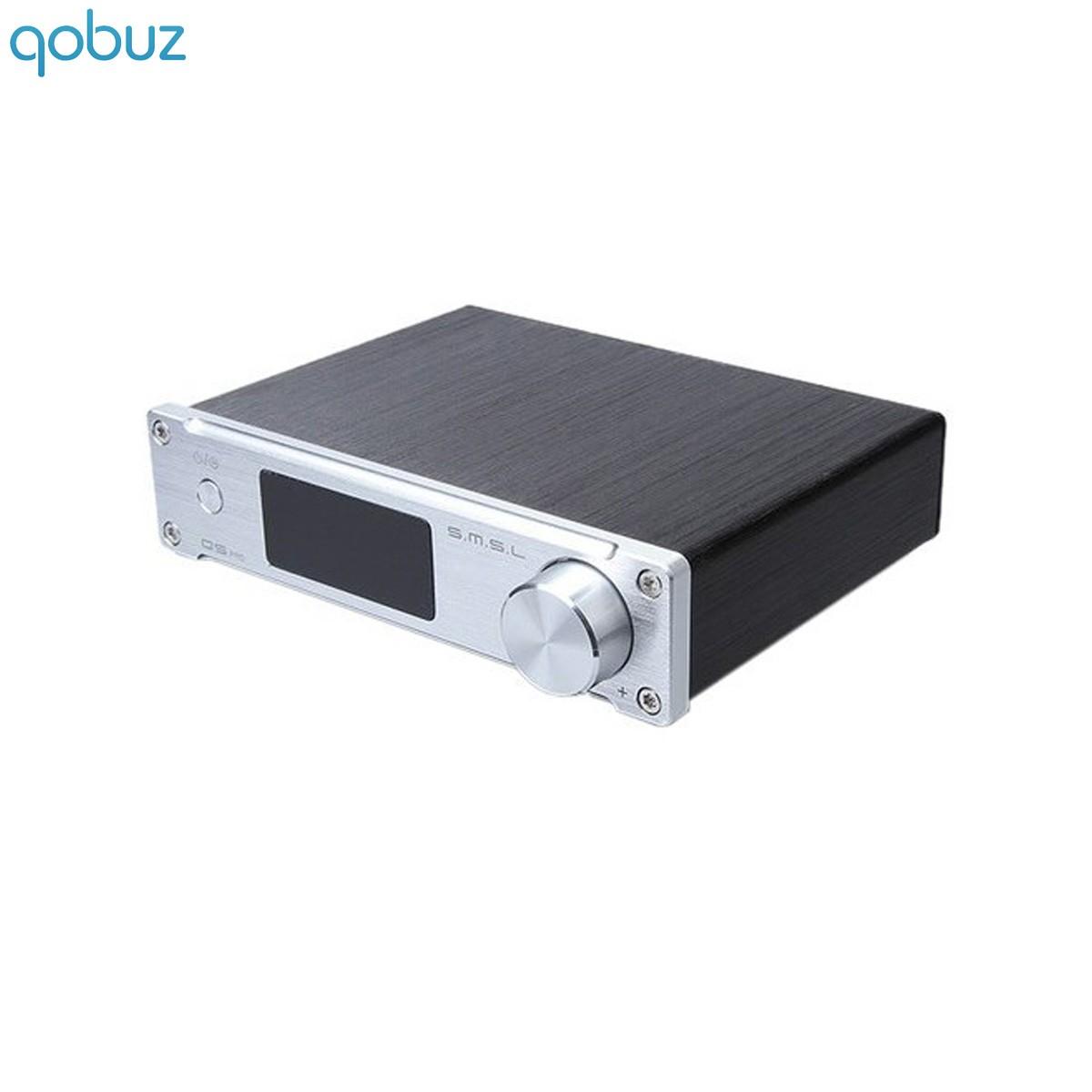 SMSL Q5 PRO Amplificateur FDA TAS5508 2x45W + sortie Subwoofer 4 Ohm CS5341 SA9023 Argent