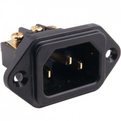 ELECAUDIO ES-3G Plug Socket IEC 24k Gold Plated