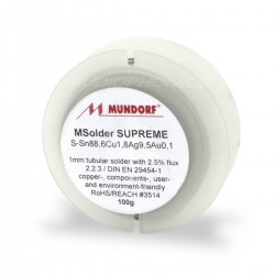 Etain à souder - Mundorf Supreme Argent 10% (2 mètres)