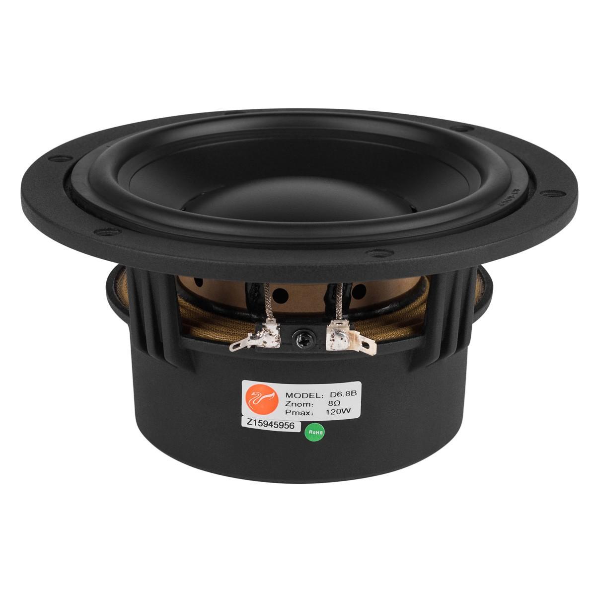 HiVi SWANS D6.8B Speaker Driver Midbass Shielded 60W 8 Ohm 85dB 43Hz - 4000Hz Ø15.2cm