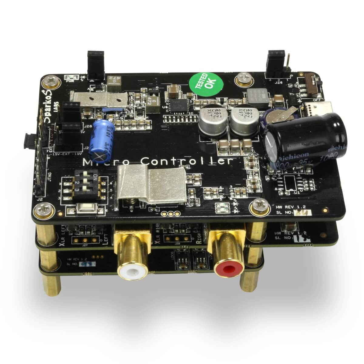 ALLO KATANA 1.2 SOUND QUALITY DAC pour Raspberry Pi ES9038Q2M 6x AOP SparkoS Labs SS3601 32bit 384kHz DSD128