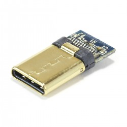 Gold Plated Male USB-C 3.1 DIY Connector