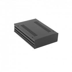 HIFI 2000 GALAXY GX147 Boîtier Aluminium 124 x 170 x 40mm Façade Avant 3mm Noir