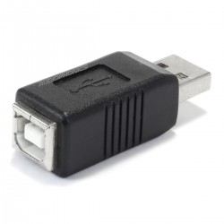 USB-B Female Adapter to USB-A Male